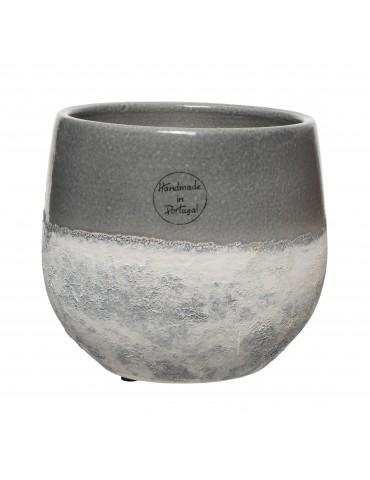 Vase en terre cuite gris fait main DVA4035172Decoris