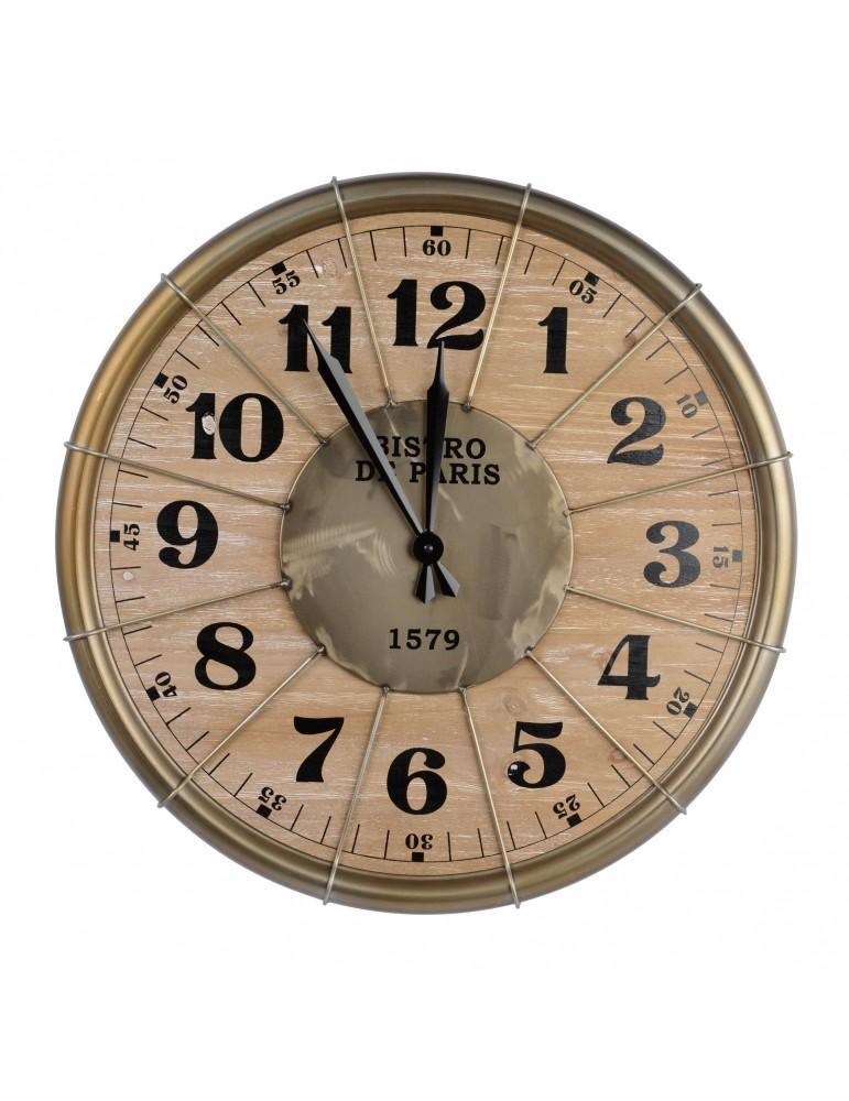 Horloge en fer doré vintage D.60cm DHO4063421Decoris