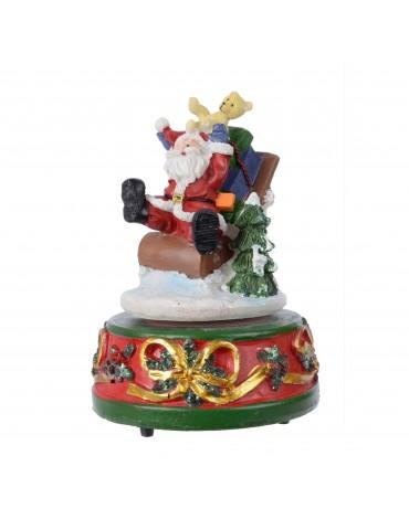 Boite à musique en polyrésine Père Noël multi couleur Noël DEO4035043