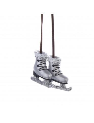 Suspension de noël argent forme patins à roulette DEO4035046