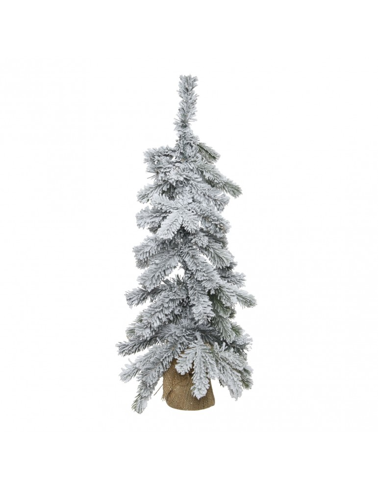 Mini sapin artificiel en jute enneigé hauteur 60cm DNO4063557Decoris