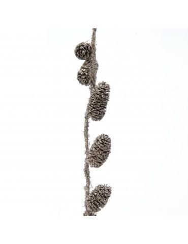 Guirlande dorée de pomme pin paillettes DEO4063577Decoris