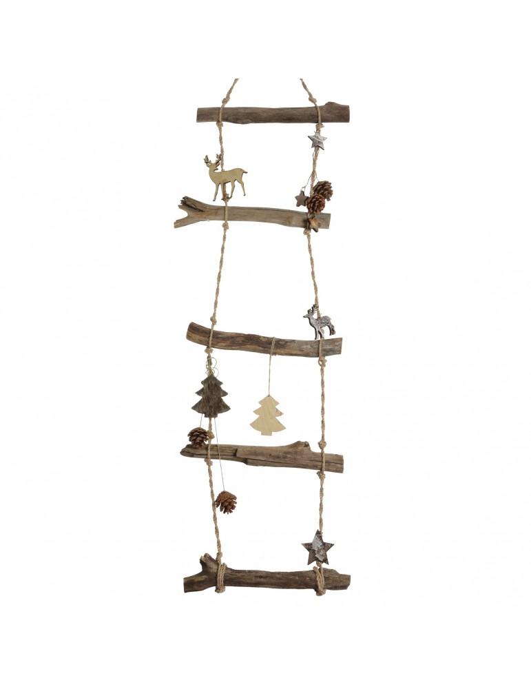 Echelle en bois flotté à suspendre pour décoration de noël DEO4063564Decoris