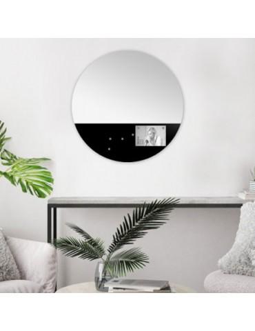 Miroir mémo noir avec aimants diamètre 45cm DMI4119009Emde