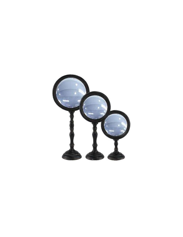 Lot de 3 miroirs convexes sur pied noir DMI4119010Emde