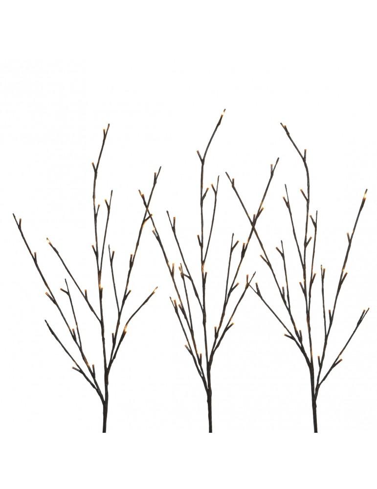 Branche lumineuse LED marron - set de 3 IGU4063189Decoris
