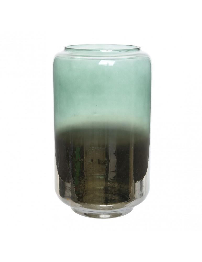 Photophore bicolore en verre bleu et vert H25 DEC4063492