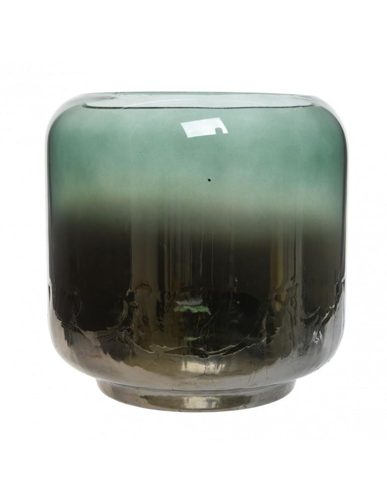 Photophore bicolore en verre bleu et vert H15 DEC4063493