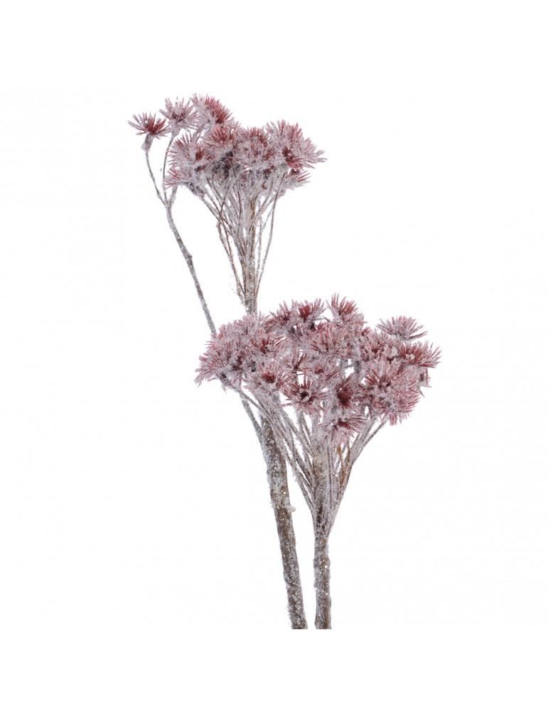 Plante artificielle berce du caucase effet enneigé et paillette DAA4063438