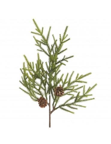 Branche artificielle verte de sapin et pomme de pin DAA4063575
