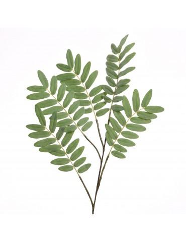 Branche artificielle verte avec feuille de soie DAA4063541