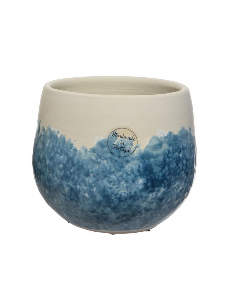 Vase en terre cuite bleu fait main DVA4035173Decoris
