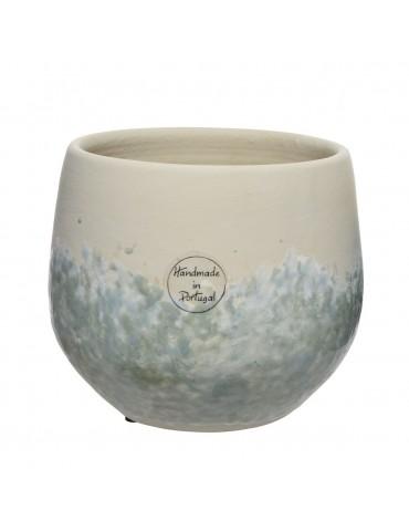 Vase en terre cuite vert fait main DVA4063511Decoris