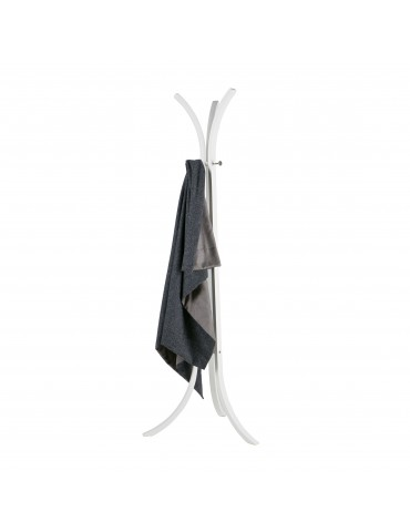 Porte-manteau en bois blanc avec 3 branches WIEK DPE4094015Woood