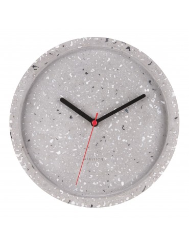 Horloge ronde en terrazzo D.25cm gris DHO4105000Present Time