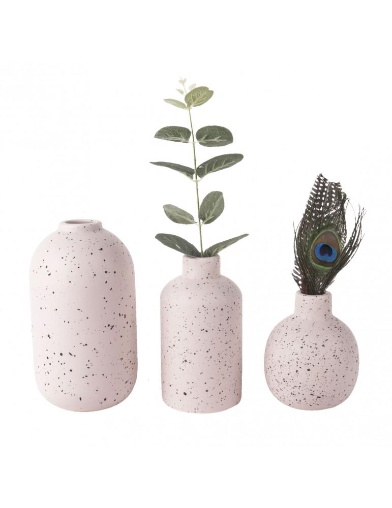 Vases en céramique rose effet terrazzo (Lot de 3) DVA4105015Present Time