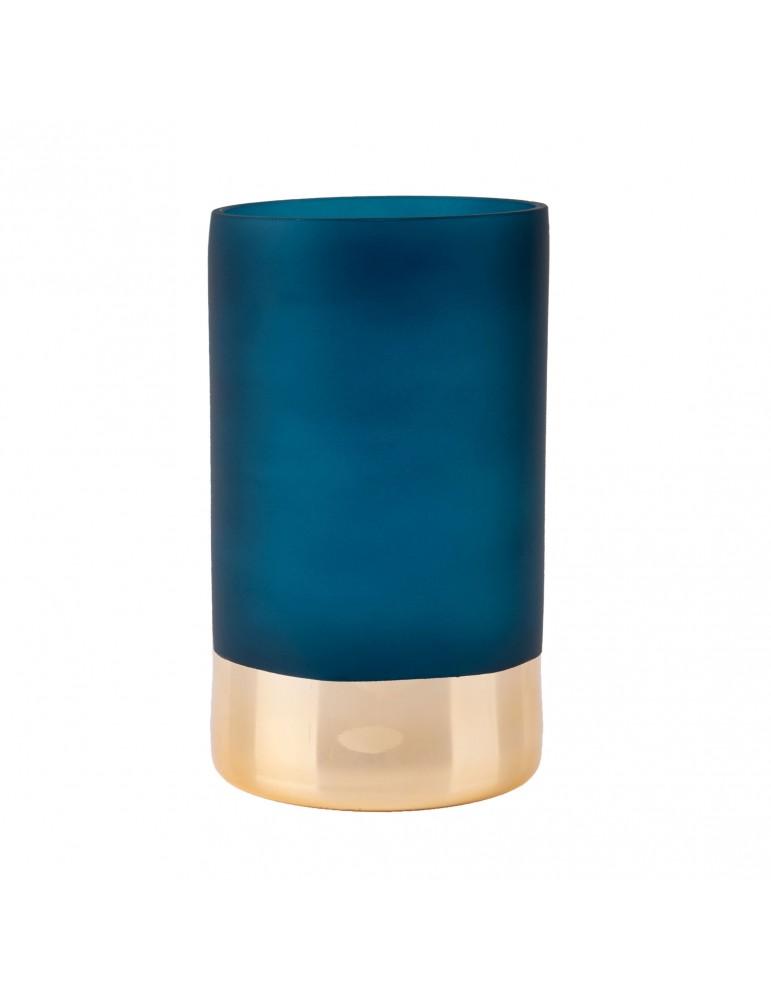 Vase en verre doré et bleu D.12cm DVA4105006Present Time