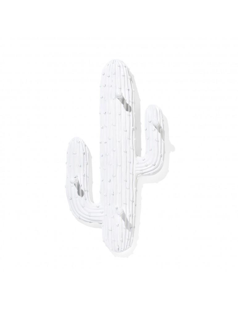 Patère cactus en résine blanc avec 4 accroches DPE4122007Delamaison