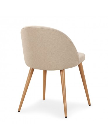 Lot de 4 chaises scandinaves Maury Beige dc5106beige