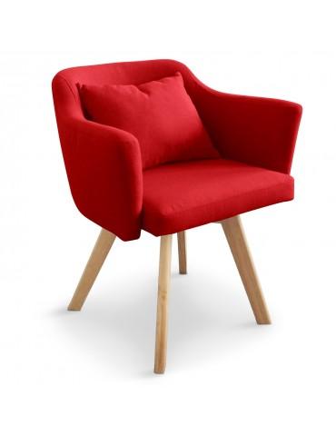Chaise / Fauteuil scandinave Dantes Tissu Rouge yf1529rouge