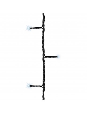 LED guirlande clignotante extérieur blanc froid 30m câble noir IGU4101061Lumineo