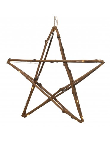 LED twig star bois naturel IGU4101010Lumineo