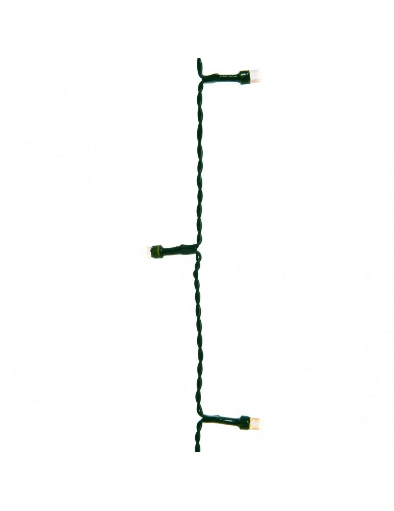 LED guirlande clignotante extérieur blanc chaud 14,9m câble vert IGU4101055Lumineo