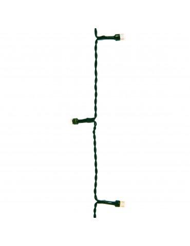 LED guirlande clignotante extérieur blanc chaud 24,9m câble vert IGU4101056Lumineo