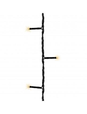 LED guirlande clignotante exterieur blanc chaud 16,5m cable noir IGU4101063Lumineo