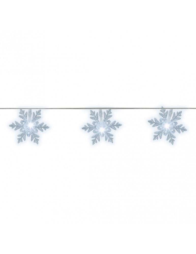 LED guirlande clignotante flocon de neige exterieur blanc froid 9,6m IGU4101078Lumineo
