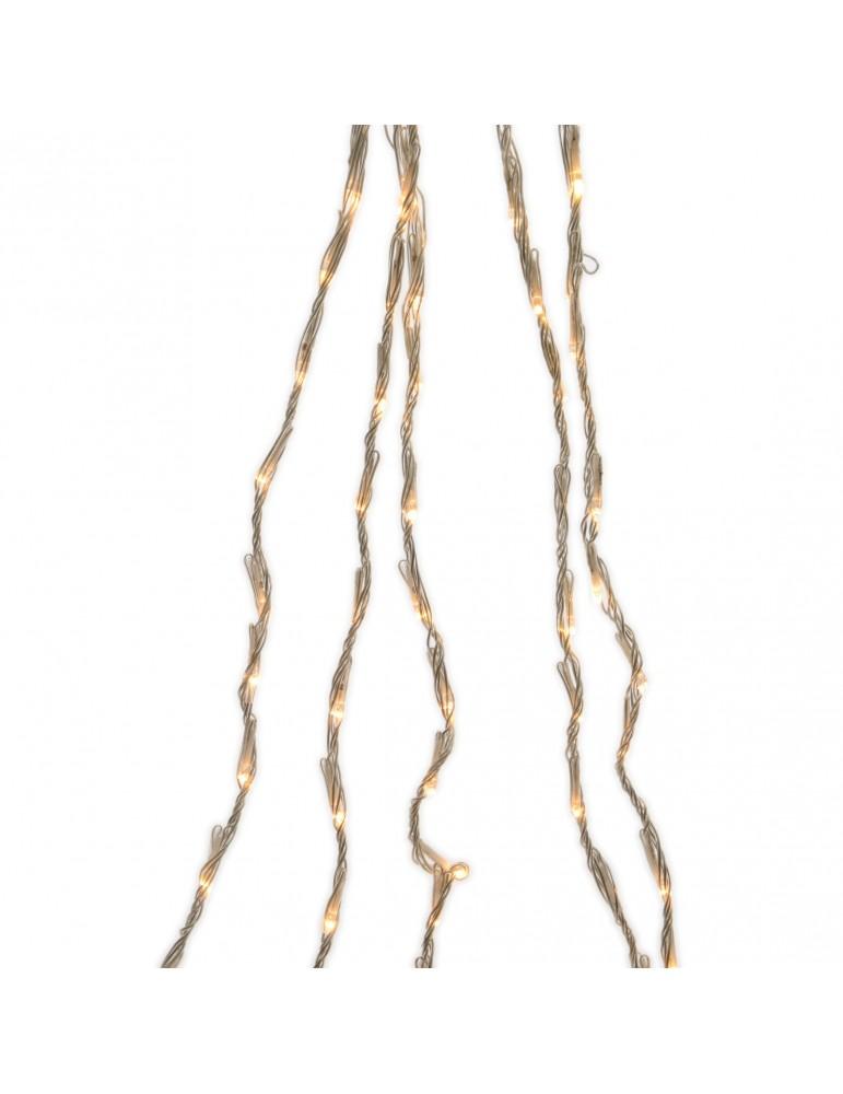 LED guirlande clignotante rideau extérieur blanc chaud 2m x 1m IGU4101071Lumineo