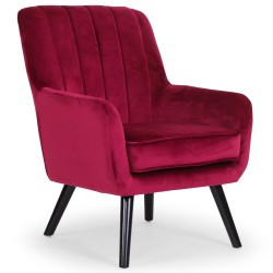 Fauteuil Nevada Velours Rouge qh8983velvetred