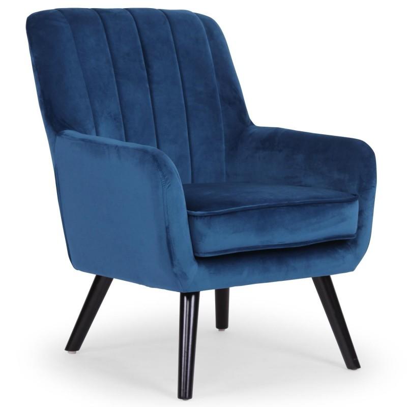 Fauteuil Nevada Velours Bleu qh8983velvetblue