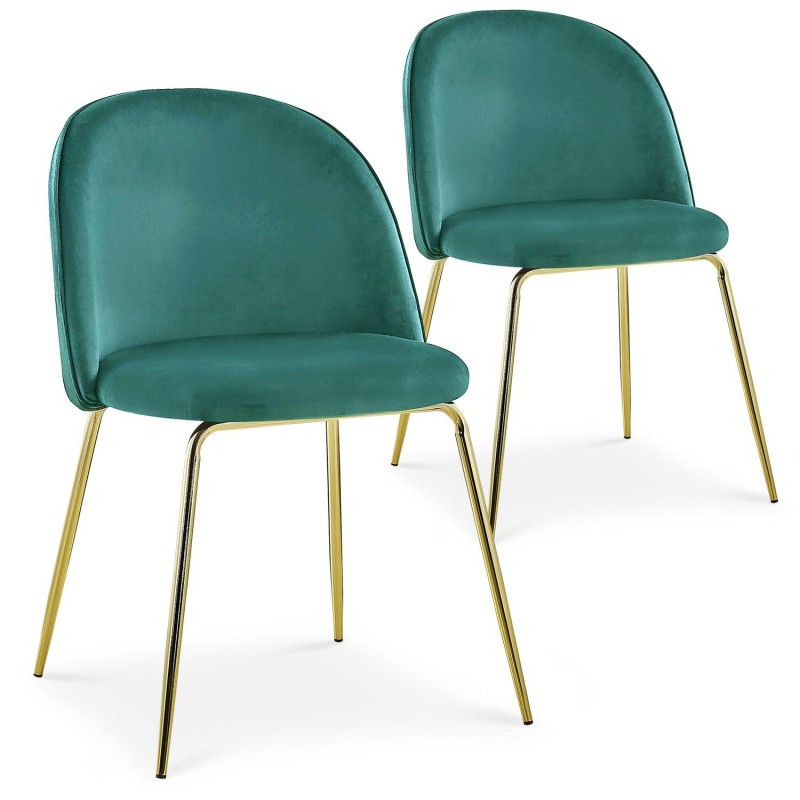 Lot de 2 chaises Spectra Velours Vert dc5319greenvelvet