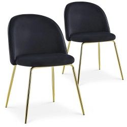 Lot de 2 chaises Spectra Velours Noir dc5319blackvelvet