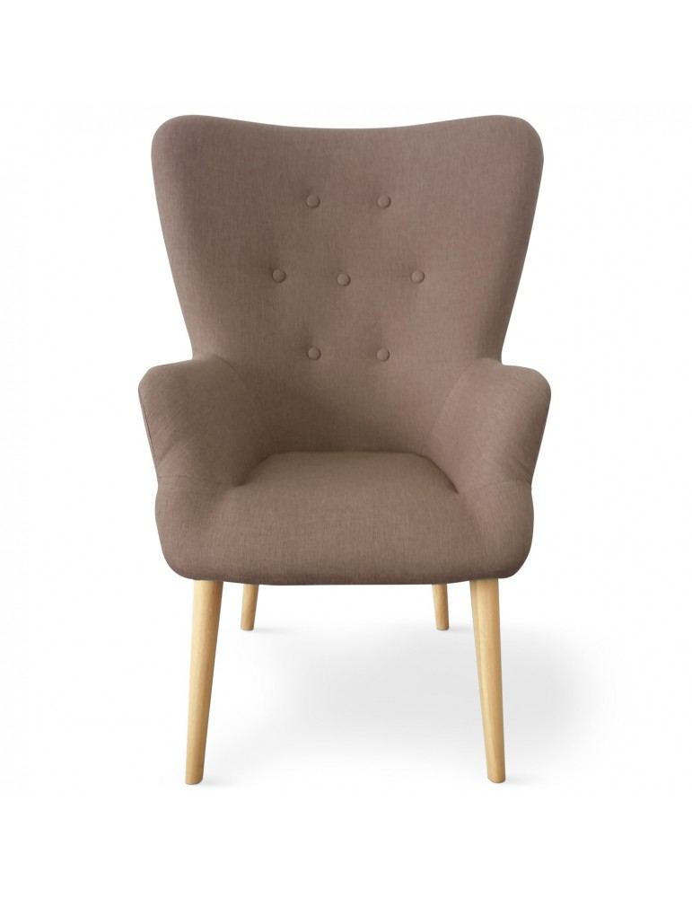 Fauteuil scandinave Barkley Tissu Taupe yf1534brown