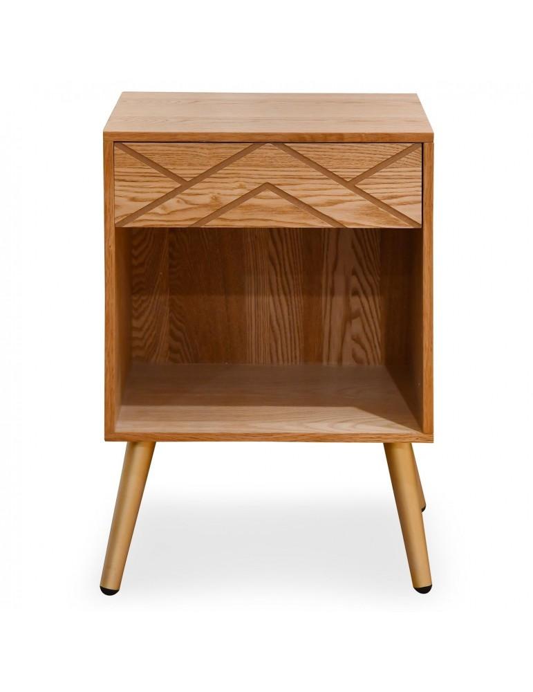 Table de chevet 1 tiroir Jones Bois 1531304