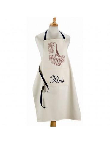 Grand tablier de cuisine Paris Ecru 72 x 96 8492129000Torchons & Bouchons