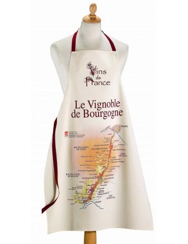 Grand tablier de cuisine Vignoble de Bourgogne Ecru 72 x 96 8492124000Torchons & Bouchons
