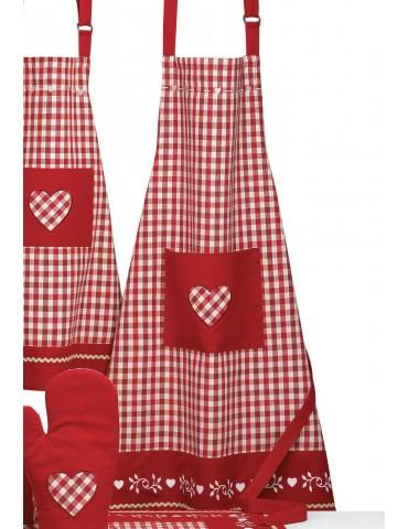 Tablier de cuisine Nahia Rouge 72 x 85 3950090000Ça et Là
