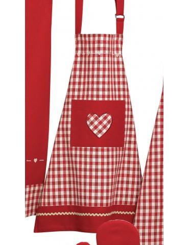Tablier de cuisine enfant Nahia Rouge 50 x 60 3952090000Ça et Là