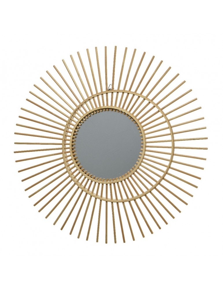 Miroir soleil en rotin d.45cm DMI4248045Decoris