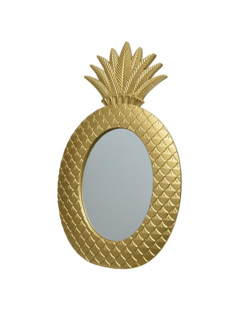 Miroir forme ananas en bois doré ART DECO DMI4248103Decoris