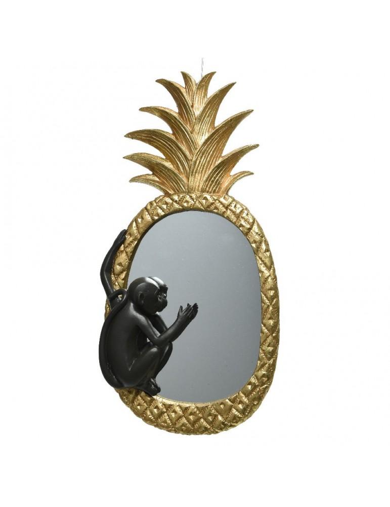 Miroir mural ananas en polyrésine doré ART DECO DMI4248040Decoris