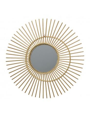 Miroir soleil en rotin d.60cm DMI4248044Decoris