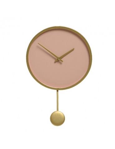 Horloge à pendule en bois rose nude d.30cm DHO4218036Decoris