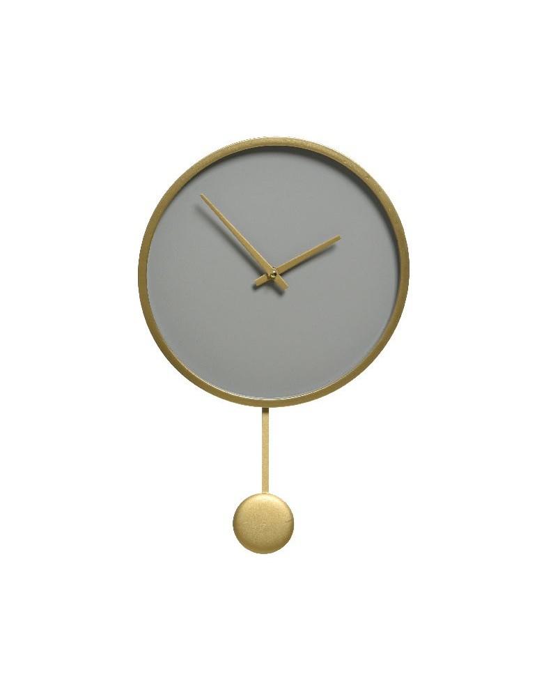 Horloge à pendule en bois rose taupe d.30cm DHO4218037Decoris