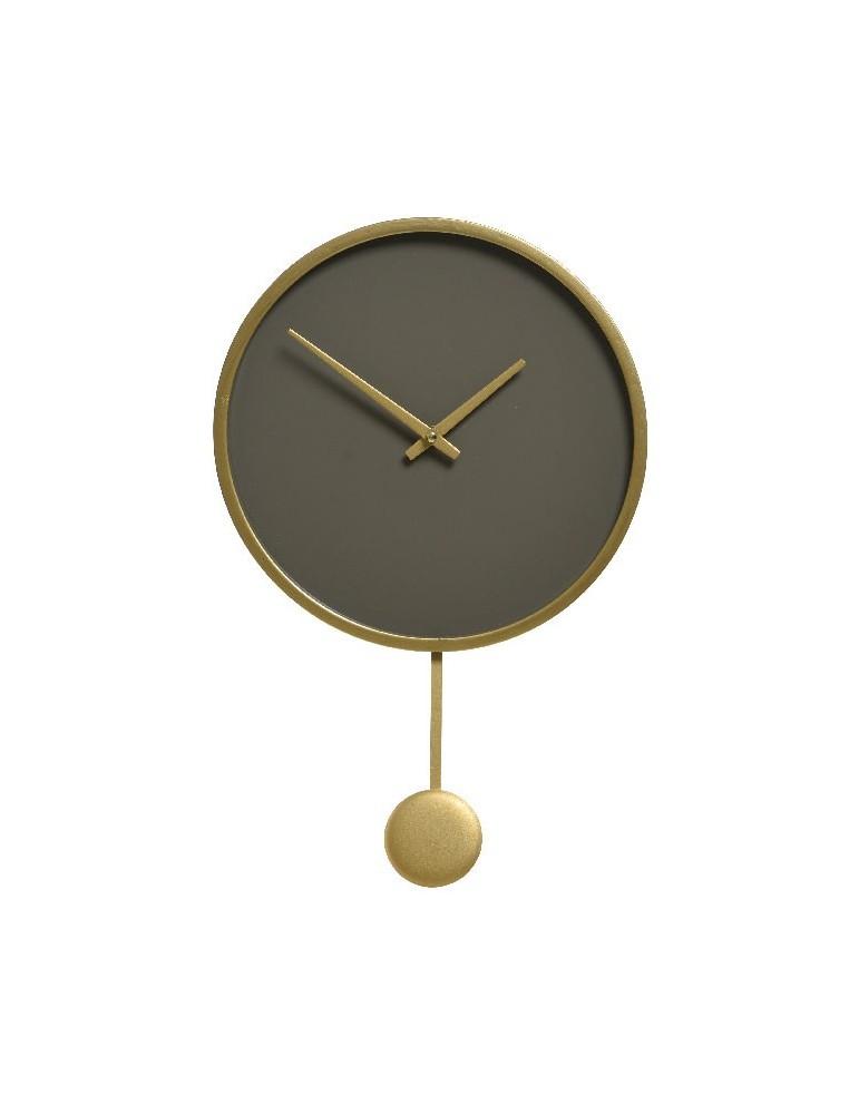 Horloge à pendule en bois gris d.30cm DHO4248101Decoris