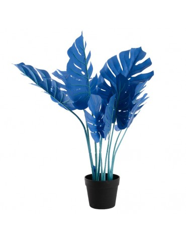 Monstera articiel bleu en pot JUNGLE DAA4248007Decoris