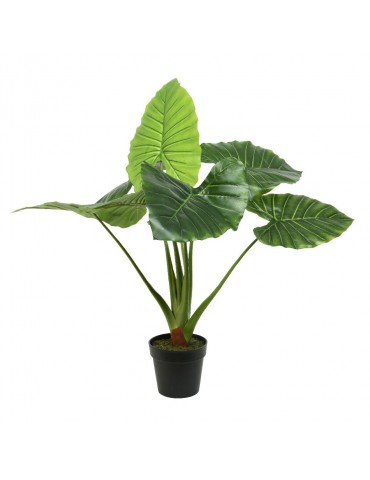Feuille de taro artificielle en pot JUNGLE DAA4248008Decoris
